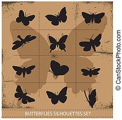 Nature various symbolical butterflies set - Nature various...