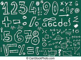 Doodle numbers and mathematical - School Doodle numbers and...