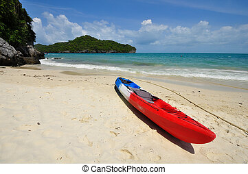 Kayak on the beach at Thailand