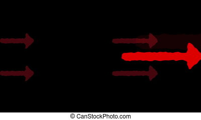 Arrow pointer, leading pointers direction, animated...