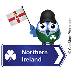 Northern Ireland - Comical Northern Ireland sign isolated on...