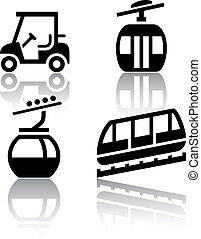 Set of transport icons - Recreation, vector illustration