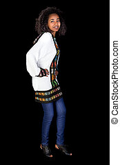 Ethiopian dance - Young smiling Ethiopian girl doing the...