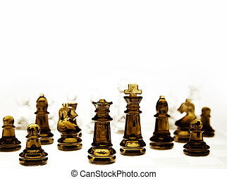 Chess pieces - Game of glass chess pieces