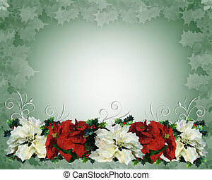 Christmas Border Poinsettias - Illustration and image...