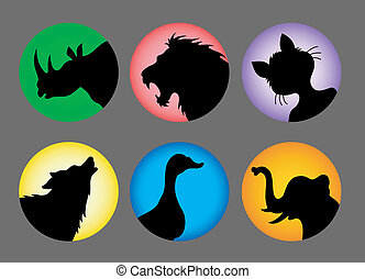 Animal silhouettes 1 color