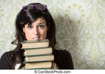 Upset student before exam