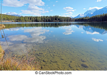 Herbert Lake and Whitehorn Mountain Banff National Park...