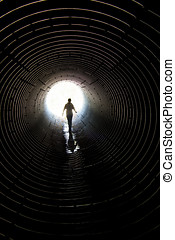 Walk in the tunnel - walk through the tunnel for reflux of...