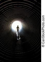 passeio, túnel