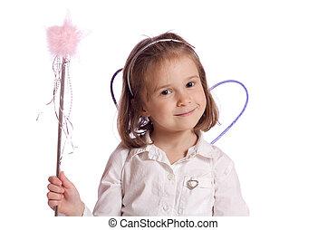 Little fairy - Cute little fairy with a wand