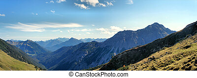 The Allgaeu Alps in Tyrol, Austria - Mountains and valleys...