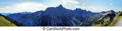 Rugged mountain in the Allgaeu Alps - Rugged peaks in the...