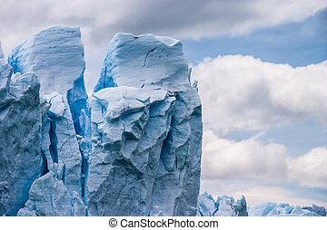 Perito Moreno glacier in Argentina close up