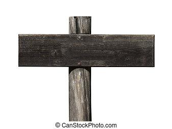Trä, stinkande, tom, gammal, underteckna