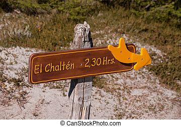 Sign El Chalten