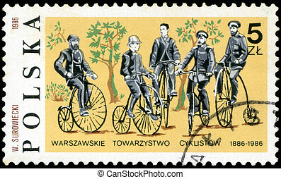 POLAND - CIRCA 1986: A stamp printed in Poland devoted 100...