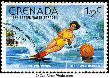 GRENADA - CIRCA 1977: A stamp printed in Grenada issued for...