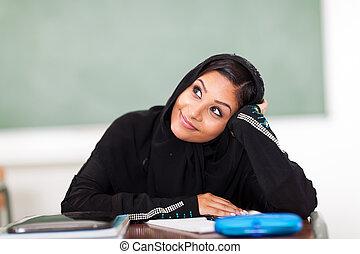 adolescent, Arabe, élevé, école,...
