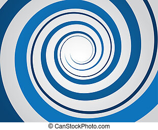 Spiral Blue  - Blue spiral and gray background