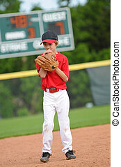Nervous baseball pitcher - Nervous little league baseball...