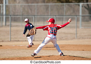 Little league pitcher - youth little league pitcher
