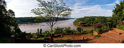 The Iguacu river close to the falls