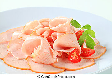 Deli ham - Delicately sliced ham made from chicken breast