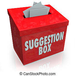 Suggestion Box Ideas Submission Comments - A red Sugestion...