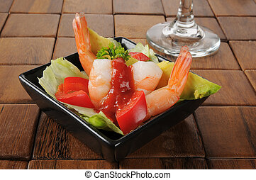 Shrimp and avocado appetizer