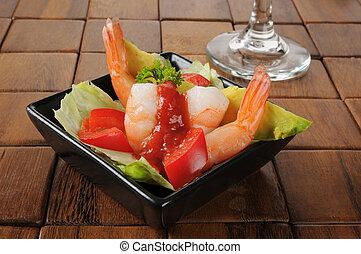 Shrimp and avocado appetizer