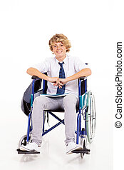 handicapped high school student - optimistic handicapped...