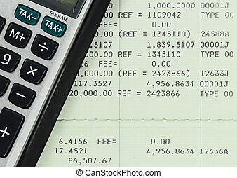 Savings Account Passbook with Calculator