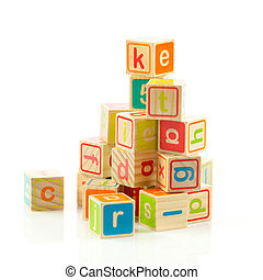 wooden toy cubes with letters Wooden alphabet blocks