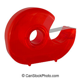 Adhesive tape roller - in transparent red