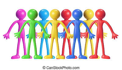 Rubber Figures on White Background
