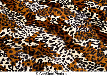 Leopardo, piel, patrón