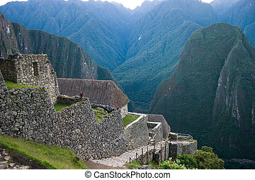 Machu picchu entrance area