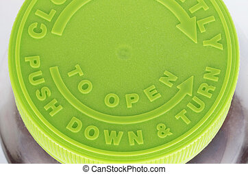 Prescription Pill Top Green - Top of a prescription pill...