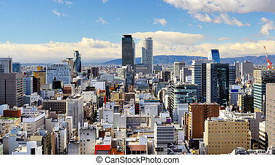 Nagoya Panorama - Skyline of downtown Nagoya, Japan in the...