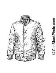 Baseball jaket on white background