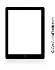 Touch screen tablet computer - Illustration of touch screen...