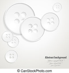 Abstract background with the image of buttons