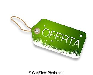 Offer price tag - Offer sales price tag on white background...