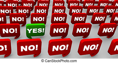 Saying Yes - Individual having a different opinion.