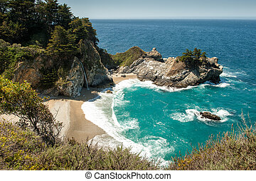 McWay Falls at Big Sur - McWay Falls at Julia Pfeiffer Burns...
