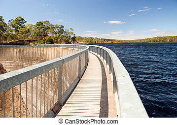 Water Reservoir - Water reservoir in the Adelaide Hills,...
