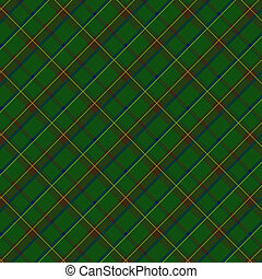 Scottish fabric - Seamless plaid fabric pattern background...