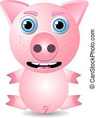 cerdo, o, cerdito