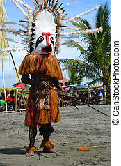 Traditional dance mask festival Papua New Guinea -...